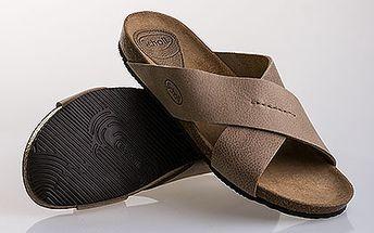 Pánské béžové pantofle Scholl