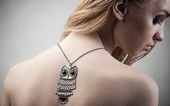 Řetízky s přívěskem sovy. Neotřelý šperk pro každou příležitost - vybírejte ze tří různých přívěsků.