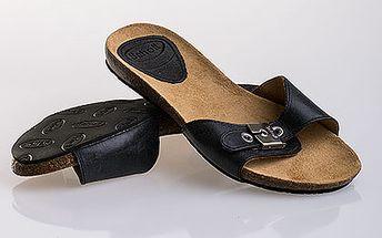 Tmavě šedé kožené pantofle Scholl