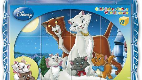 Dětské obrázkové kostky - Disney pohádky 12 kostek