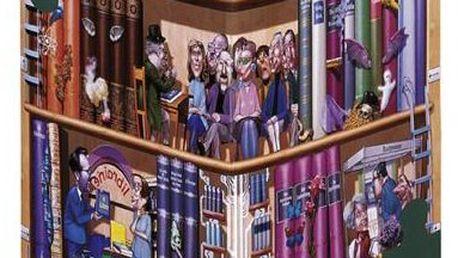 Puzzle HEYE 1500 dílků balené v netradiční trojboké krabici - Kravarik, Knihy / Triangular