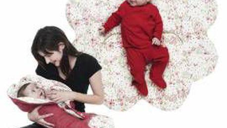 WALLABOO WWC.0609.1201 červená, zavinovačka pro novorozence do 9 měsíců
