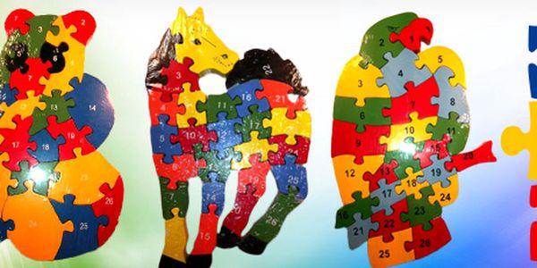 Rozvíjejte myšlení a zručnost Vašich dětí! S tímto PUZZLE ve tvaru zvířátek je bude učení i bavit! A kde jinde koupíte užitečnou hračku za tak skvělou cenu?