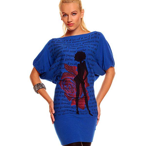 Modrý svetr s kašmírem