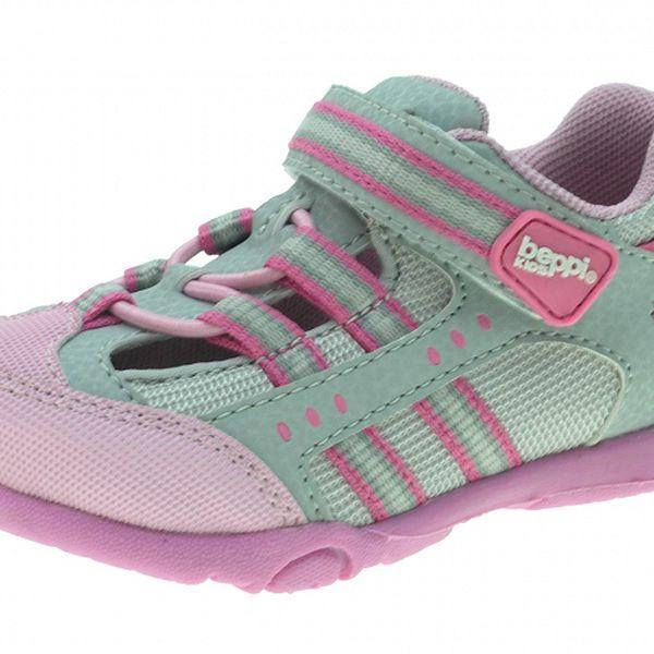 Detské šedo-ružové tenisky Beppi