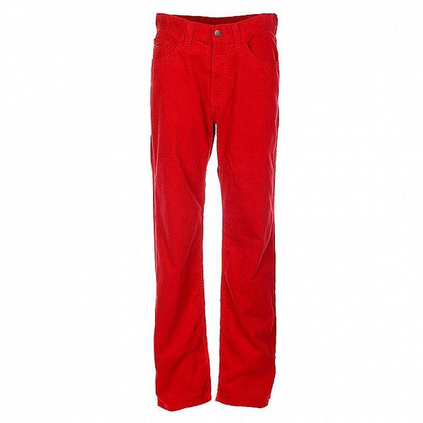 Pánské temně červené manšestráky Tommy Hilfiger