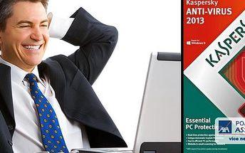 Kvalitní a spolehlivý antivirový program Kaspersky Anti-Virus 2013 (1-3 licence na 1 rok) za velice příznivou cenu!