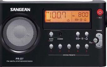 Sangean PR-D7 Pack - Vynikající stolní rádio v moderním designu a kvalitním provedení.