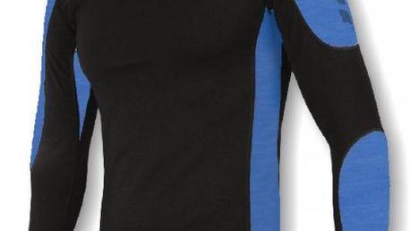 Thermo triko Sensor Thermo EVO - dlouhý rukáv pánský černá/modrá XXL
