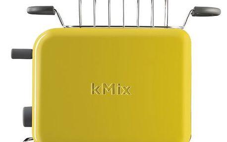 Kovový toustovač Kenwood kMix TTM 028 Boutique v zářivém žlutém designu