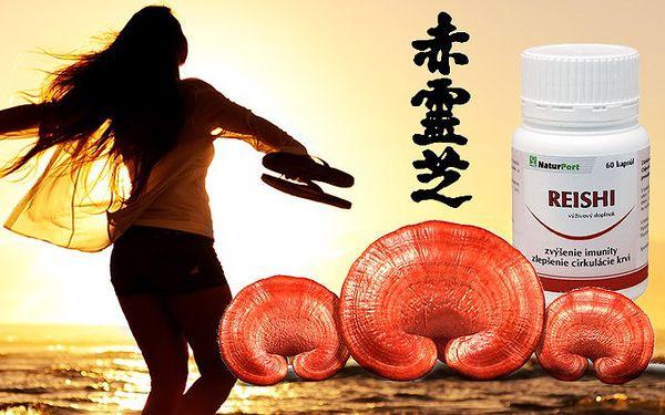 Balení 60 kapslí s výtažkem čínské houby Red Reishi