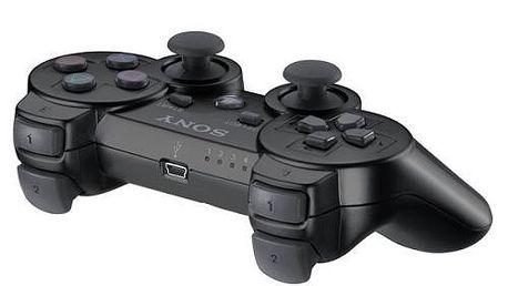 Herní ovladač Sony PS DualShock pro PS3, Black Boxed