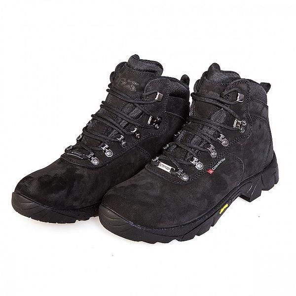 Černé vysoké celokožené trekingové boty F7 Arizona III. s membránou a Vibramem