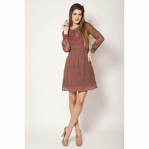 Dámske béžovo-červené šaty Tantra