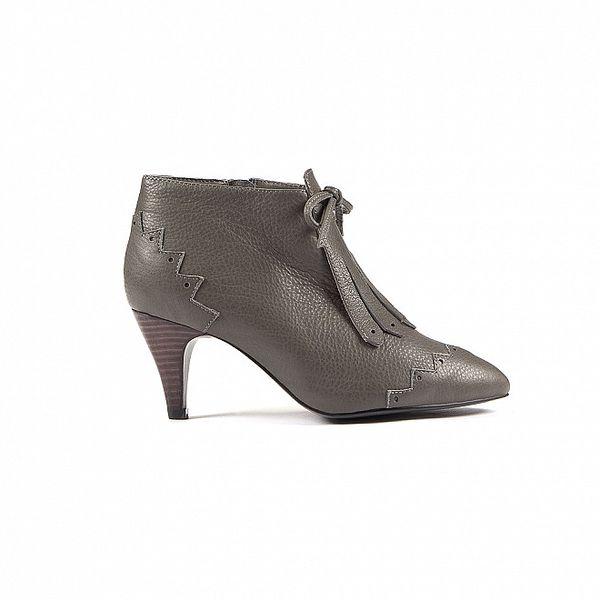 Dámské šedé kotníkové boty Lise Lindvig