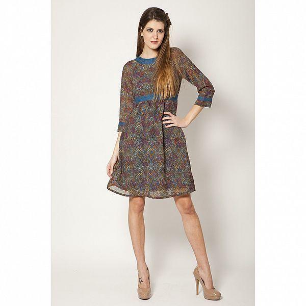 Dámské šaty s modrou krajkou Tantra