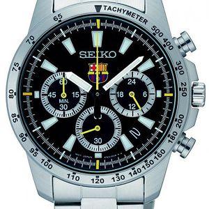 Stylové pánské hodinky Seiko SSB073P1 s tachymetrem, stopkami a datumovkou.