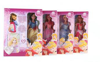 Mattel Disney zářící princezna + sáček. Panenka v krásných plesových šatech
