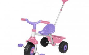 Luxusní tříkolka EVO pro děvčata s rukojetí