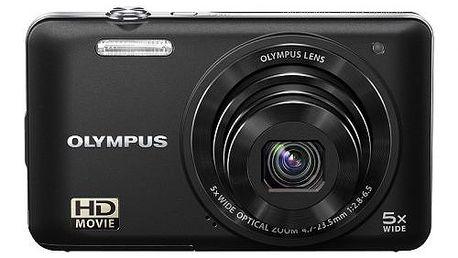 """Kompaktní fotoaparát Olympus VG-160 - stříbrný, 14 Mpx, 5x optický zoom a 3"""" displej"""
