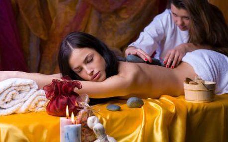 Hodinová havajská masáž s lávovými kameny, masáž chodidel!