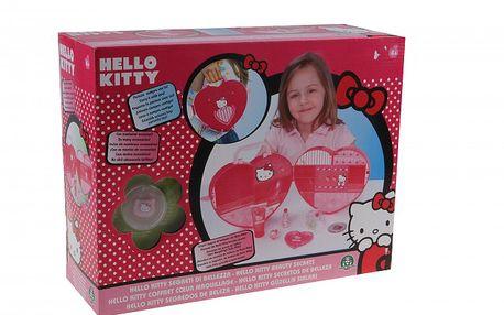 Hello Kitty kosmetický kufřík srdíčko. Kosmetika pro malé pardánice.