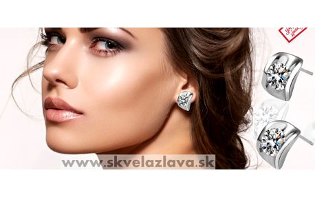 Elegantné náušnice s kryštálom potiahnuté 18 karátovým bielym zlatom od Swarovski Elements za 5,50 € vrátane poštovného.