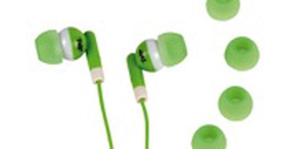 Sluchátka do uší v zelené barvě tnb escomxtripgn