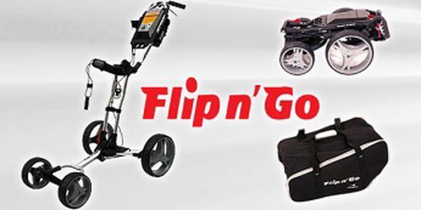 Jedinečný 4kolový kanadský vozík Flip n Go včetně příslušenství s jarní slevou 25%. K tomu přeprávní taška v hodnotě 700 Kč jako dárek ZDARMA. Získejte hit mezi golfovými vozíky za exkluzivní cenu. 5 různých barev. Video k vozíku v popisu akce.