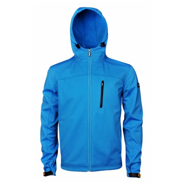 Pánská softshellová bunda Sweep69 modrá s kapucí
