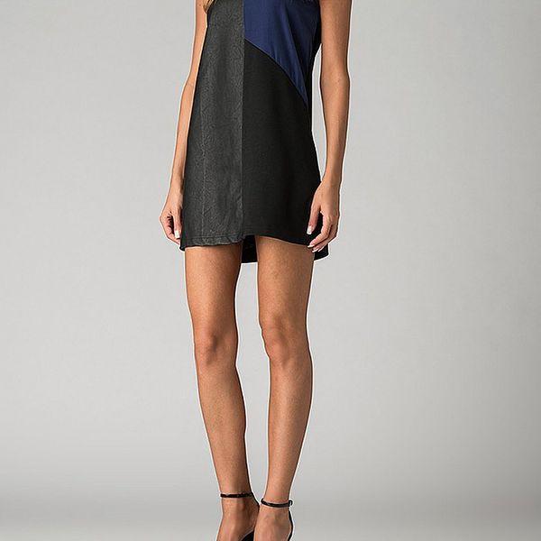 Dámské černo-modré mini šaty By Zoé