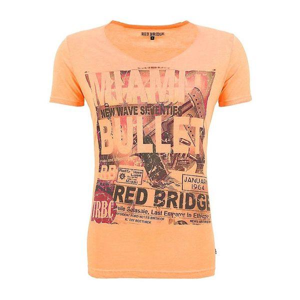 Pánské triko Redbridge oranžové s potiskem