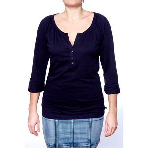 Dámské triko Ralph Lauren tmavě modré s propínáním
