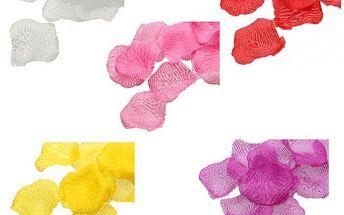 Dekorativní konfety - okvětní lístky růže v 5 barvách - 1000 ks a poštovné ZDARMA! - 439