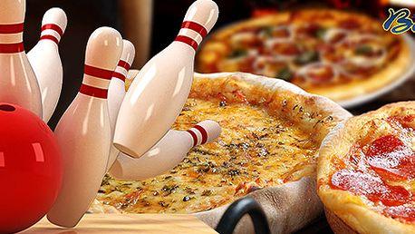 Bowling až pro 8 lidí a výborná pizza