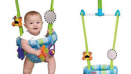 Dětské skákadlo Sassy - Úchytný systém zajišťuje bezpečnost miminka sedícího v něm.