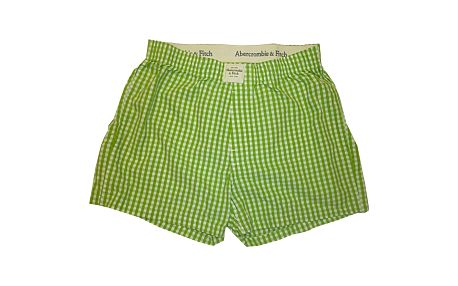 Pánské Trenýrky Abercrombie & Fitch South Notch Green Check