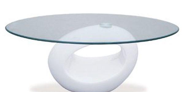 Konferenční stolek skleněný AHG-031 WT. Zajímavý jednoduchý design.
