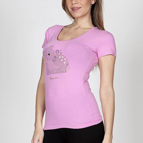 Dámské růžové tričko Braccialini s kolouškem