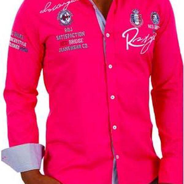 Fuchsiová košile Redbridge