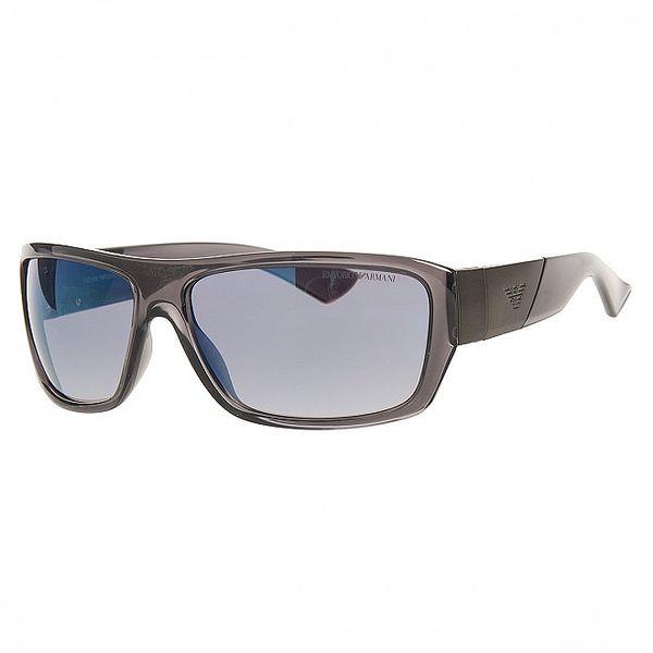Pánské ocelově šedé sluneční brýle Emporio Armani