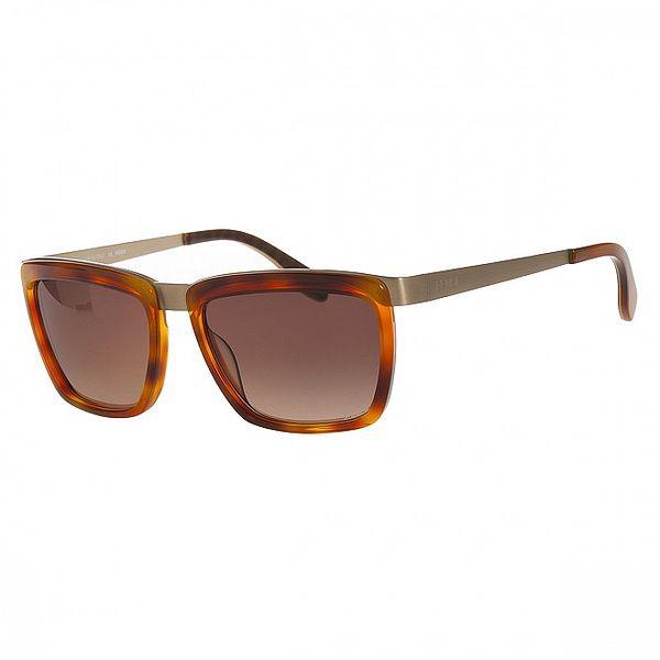 Dámske karamelové korytnačie slnečné okuliare Fendi