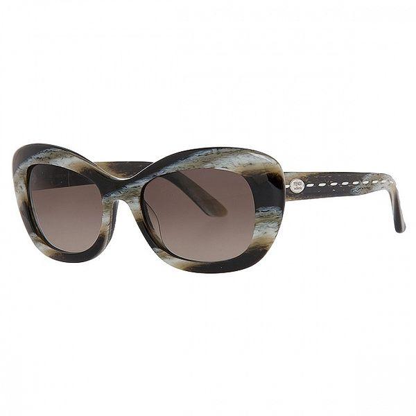 Dámské černošedé sluneční brýle fendi s marmorovanou strukturou