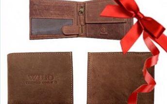 Krásná kožená peněženka z té nejkvalitnější hovězí kůže za skvělých 279 Kč! Vánoční dárek přesně pro Vás!