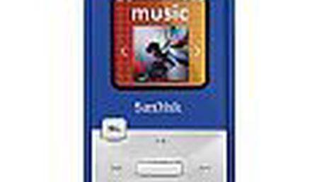 Vynikající MP3 přehrávač SanDisk Sansa Clip Zip 4 GB s velkou barevnou obrazovkou