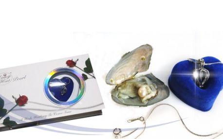 Perla přání za skvělých 159 Kč včetně poštovného! Potěšte svou drahou polovičku krásným dárkem - perlorodka s pravou perlou, přívěskem a řetízkem! Sleva 66%!