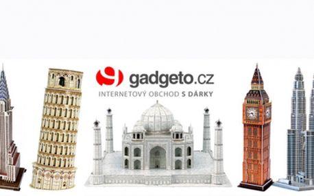 3D PUZZLE za luxusních 159 Kč! Sestavte si světoznámé budovy jako je Big Ben, Colloseum, Notre-Dame v Paříži a další! Skvělá zábava nejen pro děti se slevou 45%!