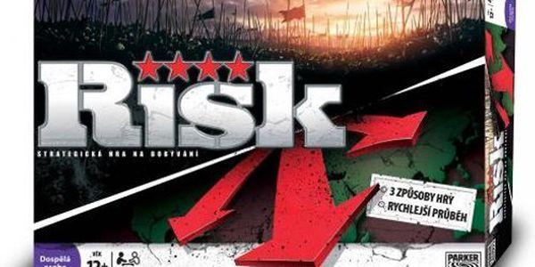 Oblíbená vojensko strategická hra Risk. Získejte kontrolu nad zeměmi a kontinenty.