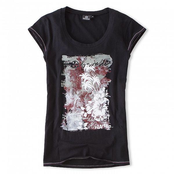 Dámské černé tričko s potiskem Brunotti