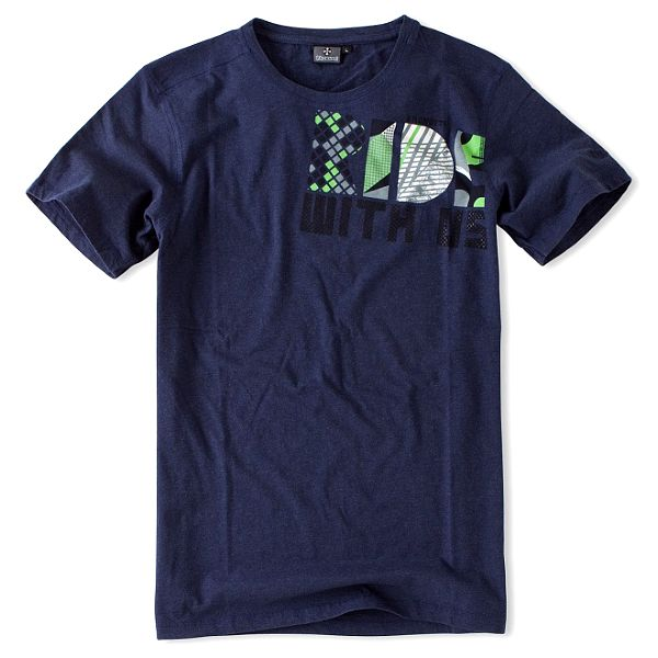 Pánske tmavo modré tričko Brunotti s potlačou